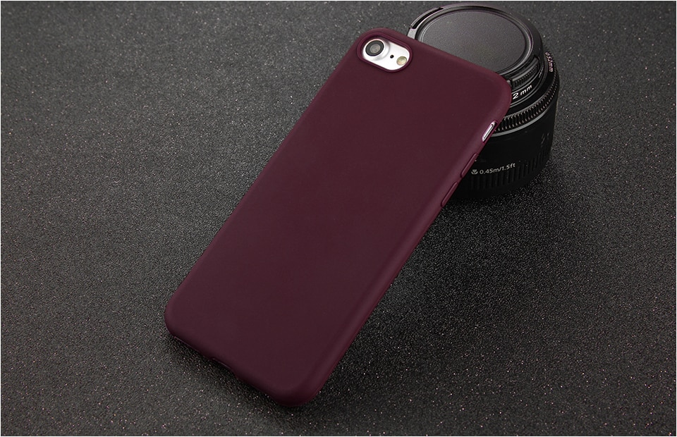 Candy Colors Soft Phone Case for iPhone