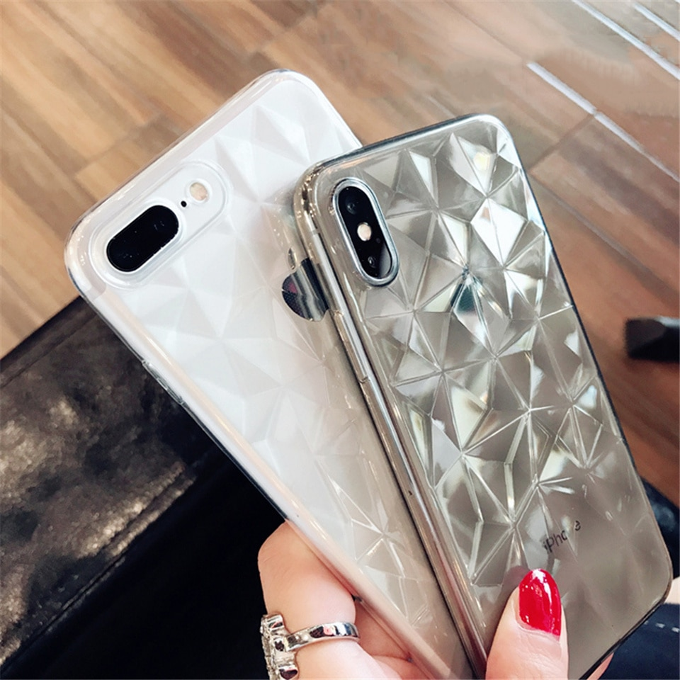 Diamond Textured Soft Case for iPhone