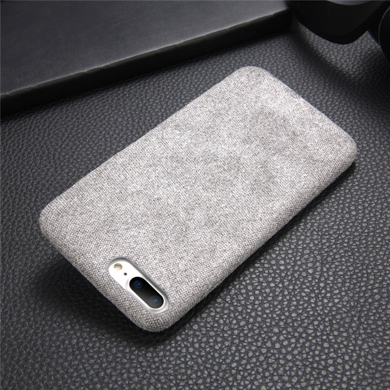 Burlap Textured Soft Phone Case for iPhone