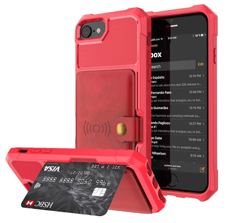 Hard Protective Wallet Case for iPhone