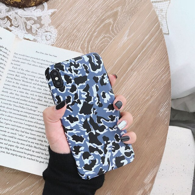 Colorful Leopard Printed Soft Phone Case for iPhone